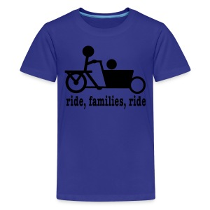 Youth Bakfiets Ride Families - Kids' Premium T-Shirt