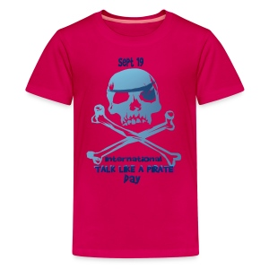 Talk Like A Pirate Skull And Crossbones - Kids' Premium T-Shirt