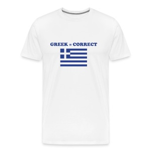 Mens Greek = Correct Heavy T - Men's Premium T-Shirt