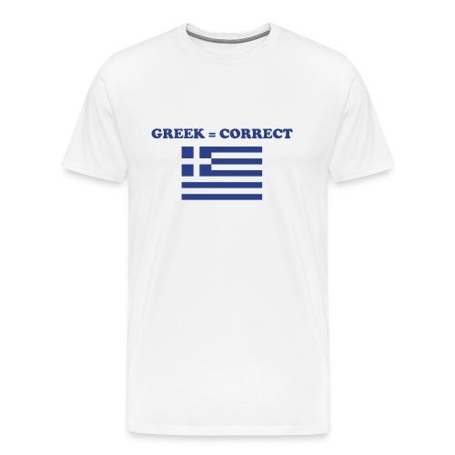 Mens Greek = Correct Heavy T - Men's Premium T-Shirt