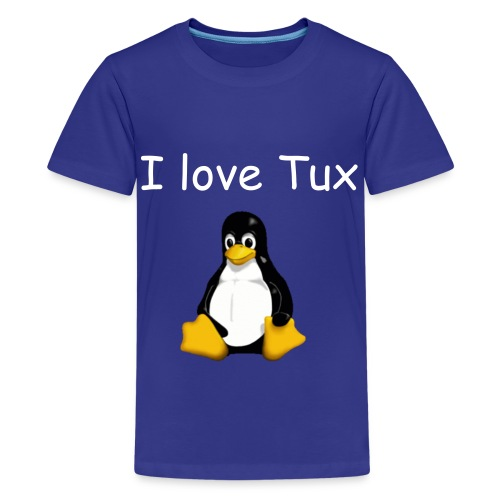 I love Tux - Kids' Premium T-Shirt