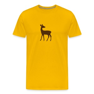 t-shirt deer fawn elk moose stag game wild animal timid bambi forest - Men's Premium T-Shirt