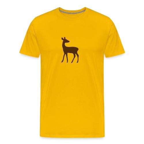 t-shirt deer fawn elk moose stag game wild animal timid bambi forest - Men's Premium T-Shirt
