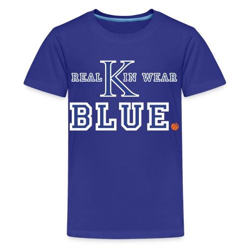 Real Kin Wear Blue - UK Basketball - Kids - Kids' Premium T-Shirt