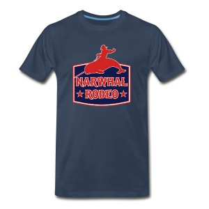 Narwhal Rodeo Sign - Men's Premium T-Shirt