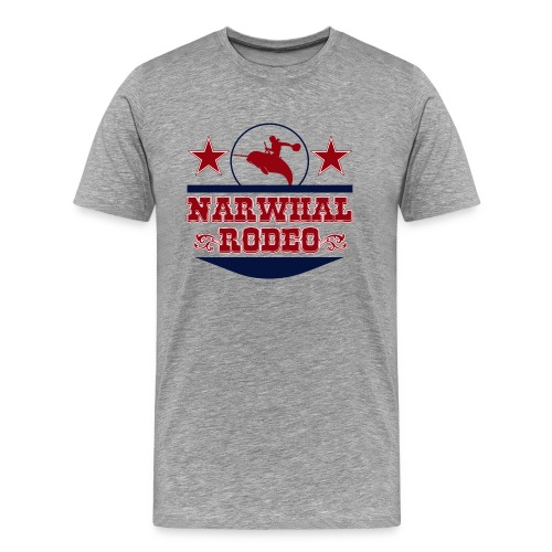 Narwhal Rodeo - Men's Premium T-Shirt