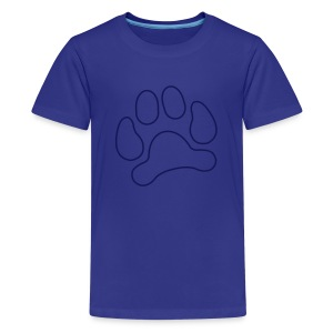 t-shirt lynx cat cougar paw cheetah animal track hunt hunter hunting - Kids' Premium T-Shirt