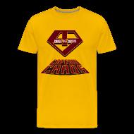 T-Shirts ~ Men's Premium T-Shirt ~ Piketoon Captain Chaos Shield Tee