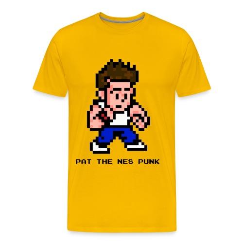 pat_pixel7_with_clear_background_black_l - Men's Premium T-Shirt