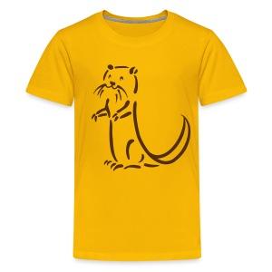 t-shirt otter beaver sea otter fish lake fishing river animal t-shirt - Kids' Premium T-Shirt