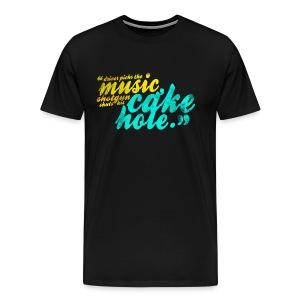 Shotgun Shuts His Cakehole (DESIGN BY MICHELLE) - Men's Premium T-Shirt