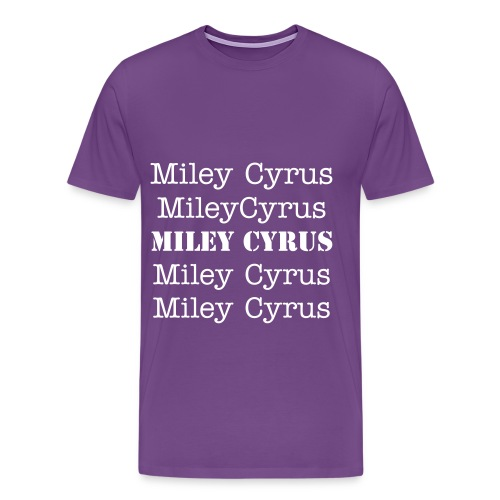 Miley Cyrus Name over and over - Men's Premium T-Shirt