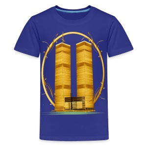 Twin Towers in Gold - Kids' Premium T-Shirt
