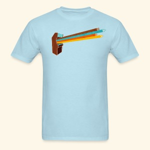 Laser Blast (vintageprint, free shirtcolor selection) - Men's T-Shirt