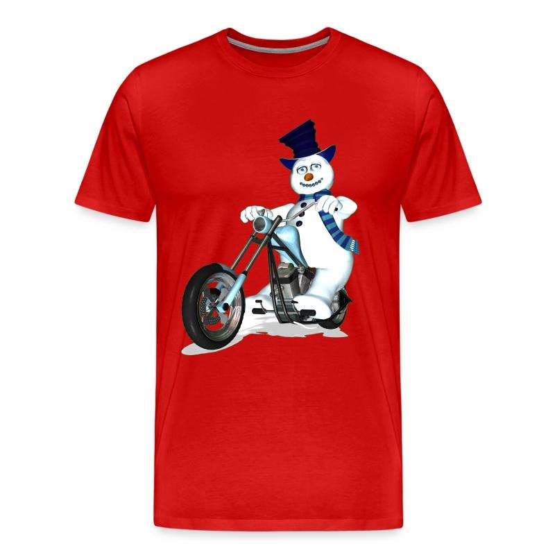 Snowman Biker - Men's Premium T-Shirt