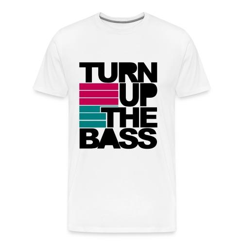 Turn Up The Bass - White - Men's Premium T-Shirt