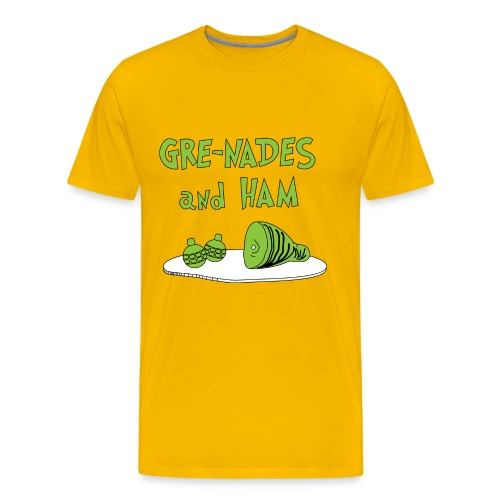 Grenades and Ham - Men's Premium T-Shirt
