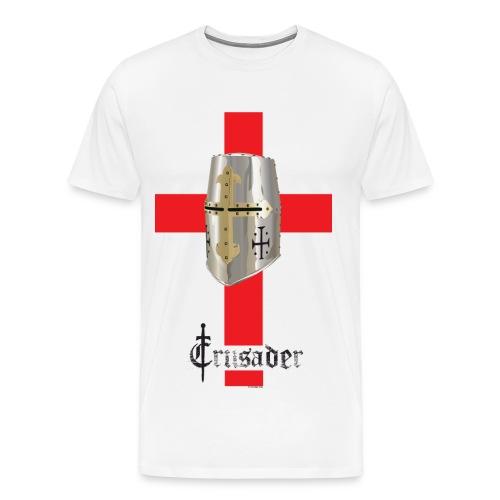Crusader Red on Light Heavyweight T - Men's Premium T-Shirt