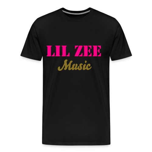 Lil Zee Music T-Shirt (Pink & Gold) - Men's Premium T-Shirt
