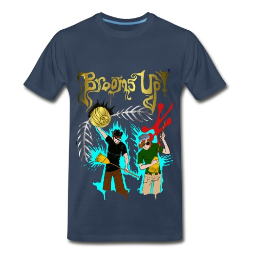 Men's navy Brooms Up shirt - Men's Premium T-Shirt