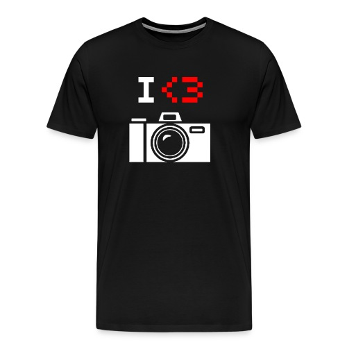 I Love Photography Camera - Men's Premium T-Shirt