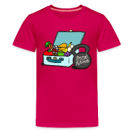 Kids' Shirts ~ Kids' Premium T-Shirt ~ Paleo Child's Primal Kitchen T-shirt Featuring Lunchbox and Kettlebell