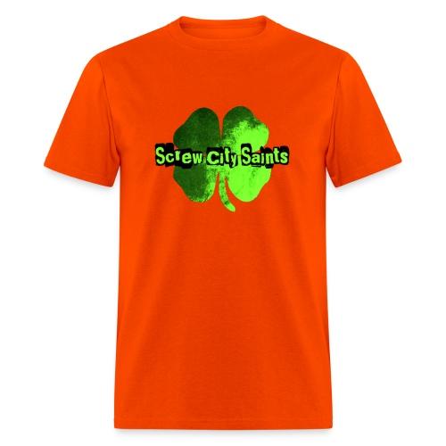 Toxic Green Four Leaf Men's Tee - Men's T-Shirt