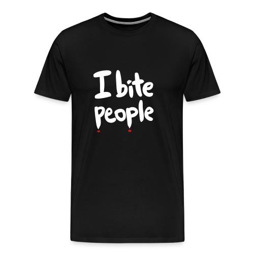 I Bite People for men - Men's Premium T-Shirt