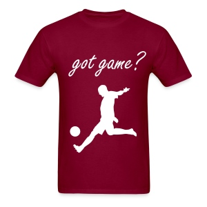 Got Game? Soccer T-Shirt Maroon and White  - Men's T-Shirt