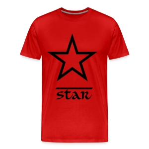 Star Casual T-Shirt Red and Black - Men's Premium T-Shirt