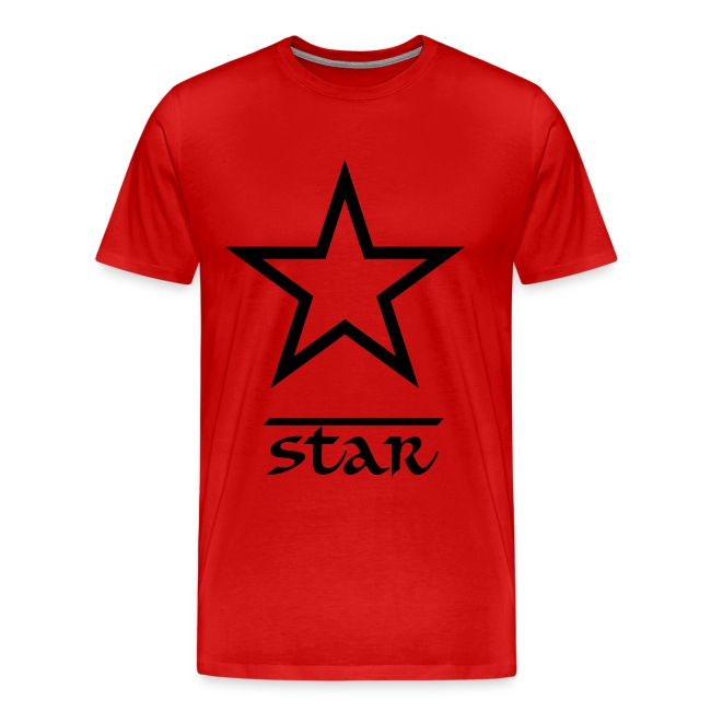 Star Casual T-Shirt Red and Black
