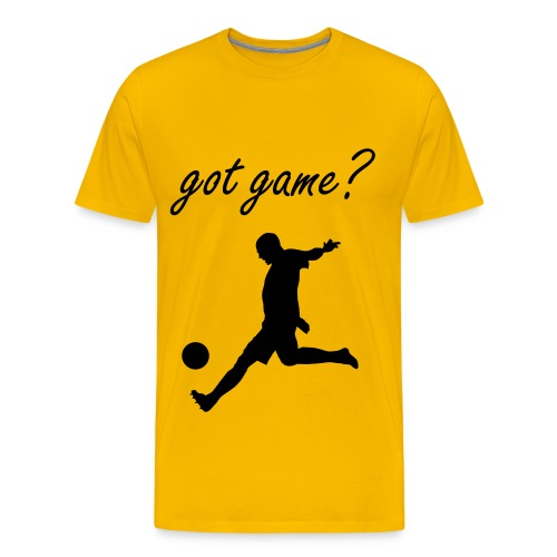 Got Game? Soccer T-Shirt Yellow and Black - Men's Premium T-Shirt