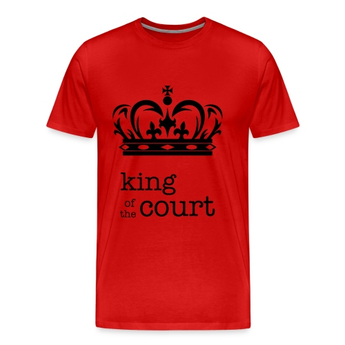 King of the Court Soccer T-Shirt Red and Black - Men's Premium T-Shirt