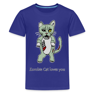 Zombie Cat Loves You Kids'