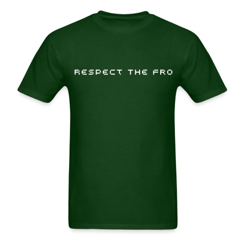 Respect The Fro Text Tee - Men's T-Shirt