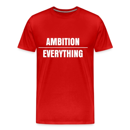 Men's Premium T-Shirt - wale,tshirt,red,over,everthing,ambition