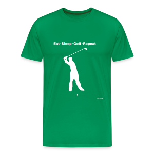 Eat Sleep Golf Repeat - Men's Premium T-Shirt
