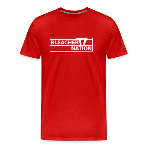 Bleacher Nation Logo Heavyweight T-Shirt (Men's) - Men's Premium T-Shirt