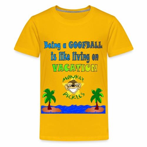 Monkey Pickles Goofball Vacation - Kids' Premium T-Shirt
