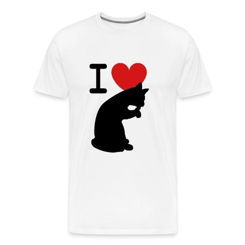 I love Cotton Tee - Men's Premium T-Shirt