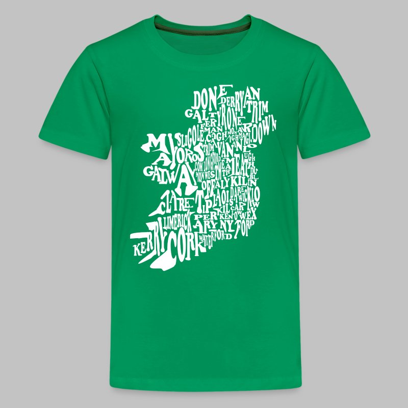 County Name Map - Kids' Premium T-Shirt
