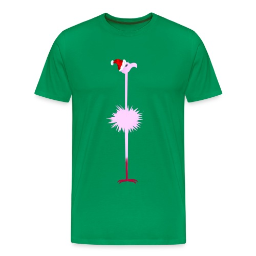 Pink Christmas Flamingo 2 - Men's Premium T-Shirt