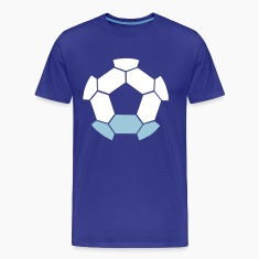 sci fi negative shape soccer ball FOOTBALL T-Shirts