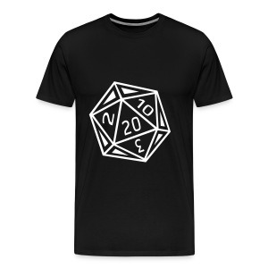 D20 T-Shirt - White Dice - Men's Premium T-Shirt