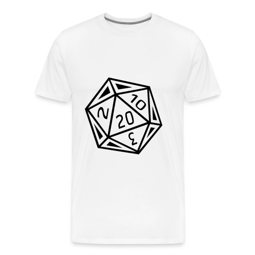 D20 T-Shirt - Black Dice - Men's Premium T-Shirt