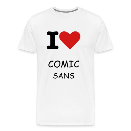 Mens-Love Comic Sans - Men's Premium T-Shirt