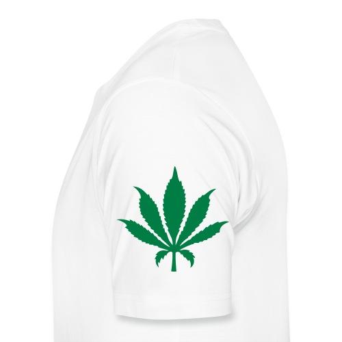 3rd Street Fiends Rasta Logo (White) - Men's Premium T-Shirt