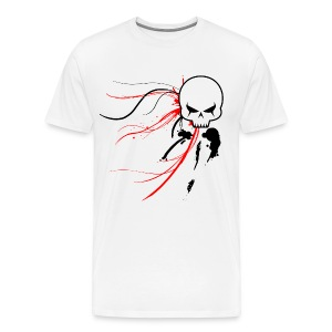 Cyber Skull Graffiti 3X - Men's Premium T-Shirt