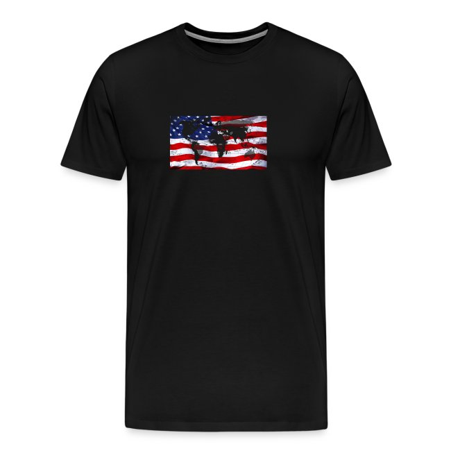 United States Flag World Map