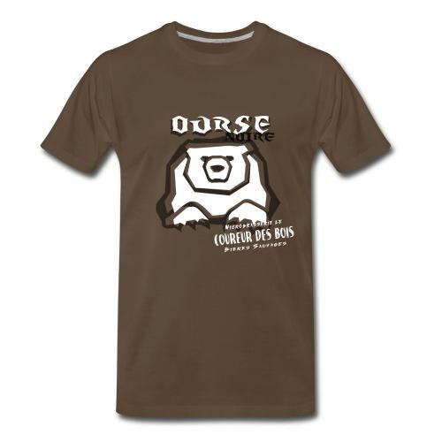 T-Shirt Ourse Noire - T-shirt premium pour hommes